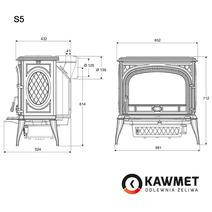 Печь камин чугунная KAWMET Premium S5 (11,3 kW). Фото 9