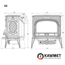 Печь камин чугунная KAWMET Premium S6 (13,9 kW). Фото 19