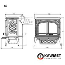 Печь камин чугунная KAWMET Premium S7 (11,3 kW). Фото 20