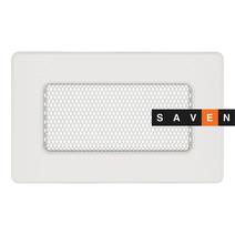 Вентиляционная решетка для камина SAVEN 11х17 белая