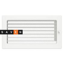 Вентиляционная решетка для камина SAVEN 17х30 белая с жалюзи