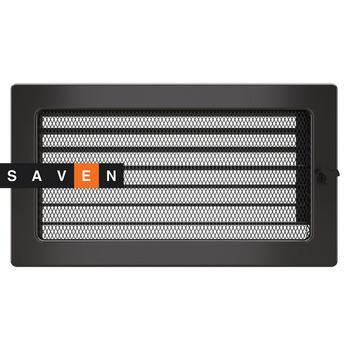 Вентиляционная решетка для камина SAVEN 17х30 графитовая с жалюзи
