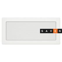 Вентиляционная решетка для камина SAVEN 17х37 белая