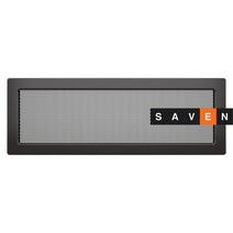 Вентиляционная решетка для камина SAVEN 17х49 графитовая