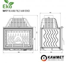 Каминная топка KAWMET W17 (16.1 kW) EKO. Фото 10