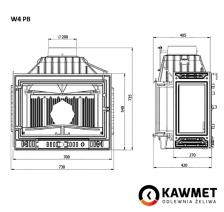 Каминная топка KAWMET W4 с правым боковым стеклом (14.5 kW). Фото 8