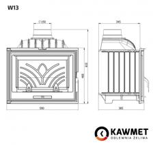 Каминная топка KAWMET W13 (9.5 kW). Фото 9