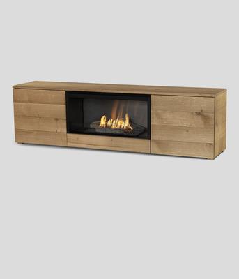 Автоматический биокамин Planika Pure Flame TV Box Oak Veneer
