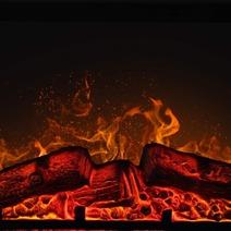 Каминокомплект ArtiFlame YORK AF23 МАХАГОН КОРИЧНЕВЫЙ АНТИК. Фото 4