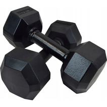 Гантель чугунная шестигранная гексагональная KAWMET 2 по 7,5 кг