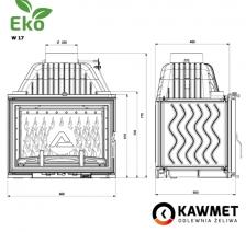 Каминная топка KAWMET W17 Dekor (16.1 kW) EKO. Фото 7