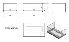 Стекло для биокамина SIERRA (комплект стекло и подставка). Фото 3