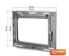 Дверцы для камина KAWMET W9 490x680. Фото 2