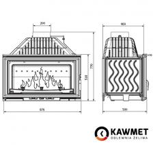 Каминная топка KAWMET W15 (18 kW). Фото 10