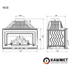 Каминная топка KAWMET W16 (9.4 kW) EKO. Фото 7