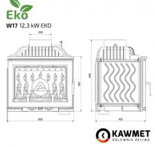 Каминная топка KAWMET W17 Dekor (12.3 kW) EKO. Фото 11