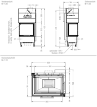 Каминная топка Spartherm Varia 2L-55h GET. Фото 3