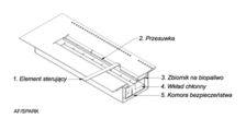 Горелка биокамина (топливный блок) длинная 700 мм. Фото 5