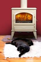Печь камин чугунная DOVRE 640 CB коричневая майолика. Фото 7