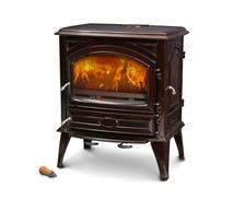 Печь камин чугунная DOVRE 640 CB коричневая майолика. Фото 2