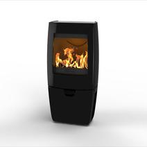 Печь камин чугунная DOVRE Sense 200 глянцевая черная. Фото 3