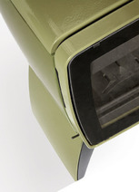 Печь камин чугунная DOVRE Vintage 30 TB оливковая зеленая. Фото 2