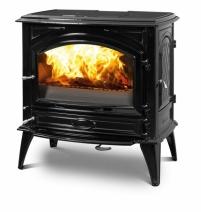 Печь камин чугунная DOVRE 760 GK на углях глянцевая черная. Фото 9