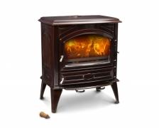 Печь камин чугунная (мультипечь) DOVRE 640 GM коричневая майолика. Фото 9