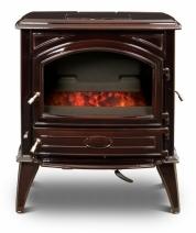 Печь камин чугунная DOVRE 640 GK на углях коричневая майолика. Фото 7