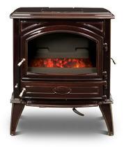 Печь камин чугунная DOVRE 640 GK на углях коричневая майолика. Фото 2