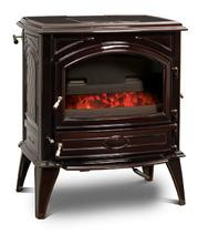 Печь камин чугунная DOVRE 640 GK на углях коричневая майолика. Фото 3
