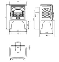 Чугунная печь Dovre 250 CBS. Фото 3