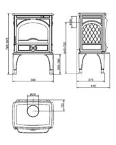 Чугунная печь Dovre 425 CB/E10 глянцевый черный. Фото 2