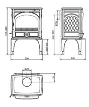 Чугунная мульти печь Dovre 425 GM/E6 коричневая майолика. Фото 2