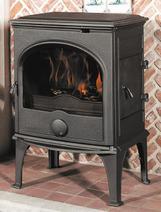 Чугунная мульти печь Dovre 555 GM/E10 глянцевый черный. Фото 4