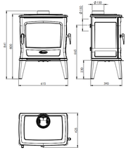 Чугунная печь Dovre TAI 45WD. Фото 7