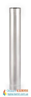 Труба для дымохода с нержавеющей стали одностенная L=1м, 100, 0.5 мм, AISI 201