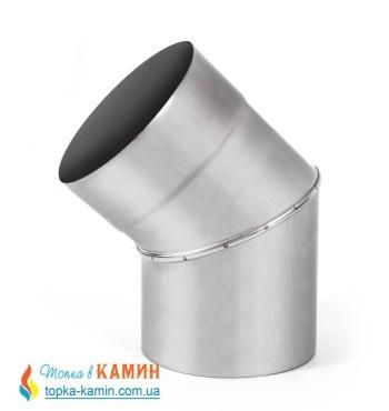 Колено дымоходное с нержавеющей стали одностенное (0.8мм) 45° от Ø110-Ø400
