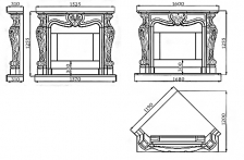 Портал для камина (облицовка) Фантазия из натурального мрамора Crema Marfil. Фото 4