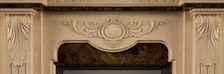 Портал для камина (облицовка) Барселона из натурального мрамора Crema Marfil + Emperador Dark. Фото 2