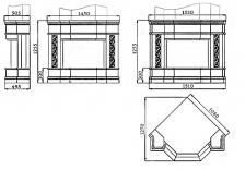 Портал для камина (облицовка) Милано из натурального мрамора Polaris. Фото 4
