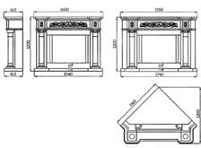 Портал для камина (облицовка) Континенталь из натурального мрамора Botticino. Фото 4
