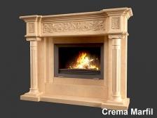 Портал для камина (облицовка) Континенталь из натурального мрамора Crema Marfil. Фото 3