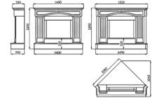 Портал для камина (облицовка) Версаль из натурального мрамора Botticino. Фото 5
