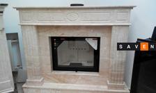 Портал для камина (облицовка) Оскар из натурального мрамора Botticino или Daino Reale. Фото 6