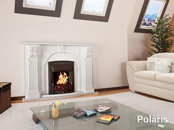 Портал для камина (облицовка) Полярис из натурального мрамора Botticino
