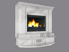 Портал для камина (облицовка) Римини из натурального мрамора  Bianco Carrara. Фото 2
