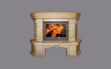 Портал для камина (облицовка) Барбара призматичная из натурального мрамора Diano Reale. Фото 2