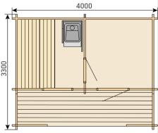 Отдельная сауна домик KEITELE с дров.каменкой Harvia 20PRO+дымоход 2000мм. Фото 3
