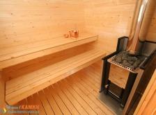 Отдельная сауна домик KEITELE с дров.каменкой Harvia 20PRO+дымоход 2000мм. Фото 2